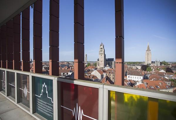 Zicht op Brugge vanaf Concertgebouw