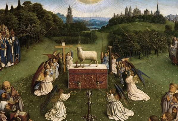 Lam Gods - detail (Jan van Eijk), katheraal van Gent