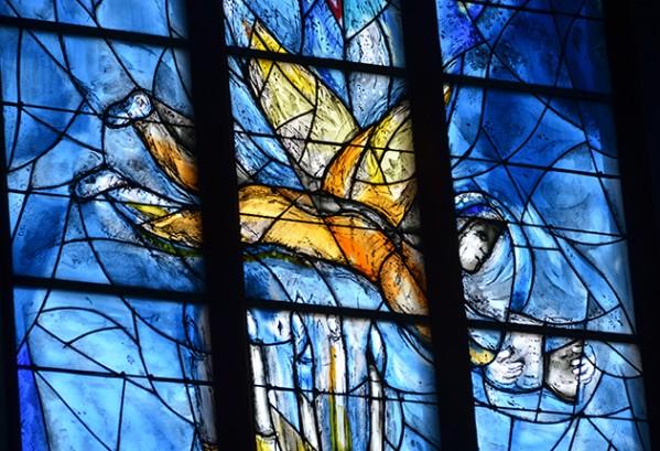 Ramen van Chagall in de St Stephan in Mainz