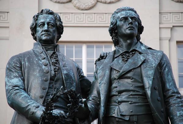Goethe en Schiller in Weimar