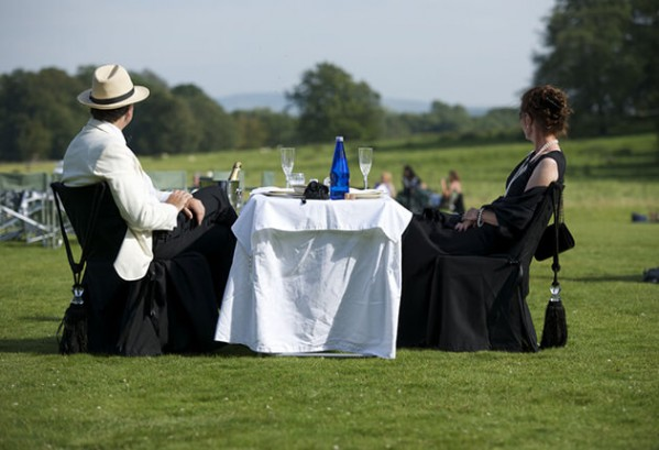Picknick bij het Glyndebourne Opera Festival