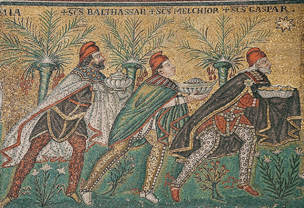 De drie koningen in Sant'Apollinare, Ravenna