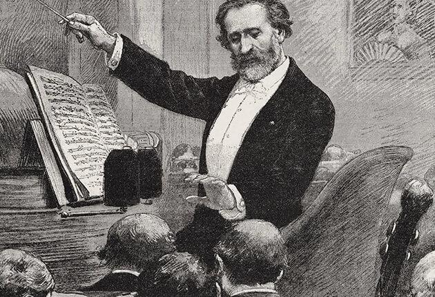 Giuseppe Verdi dirigeert