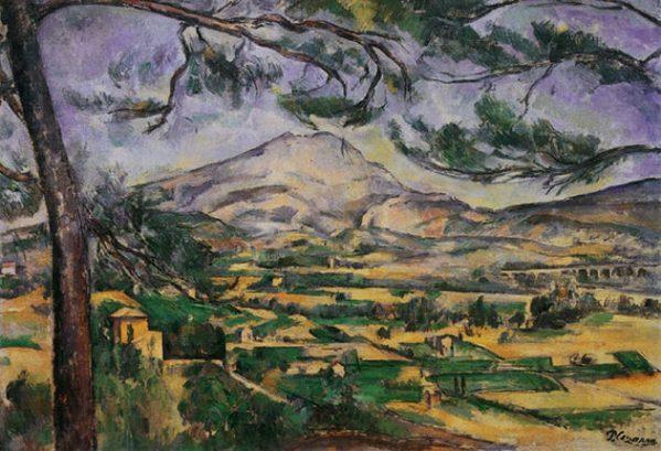 La montagne Sainte Victoire au grand pin (Cézanne)