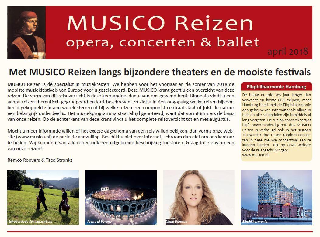 Krant MUSICO Reizen