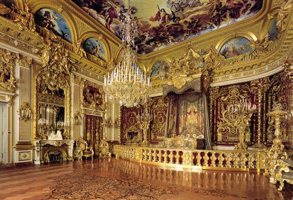 'Paradeschlafzimmer' in het kasteel op Herreninsel, Chiemsse
