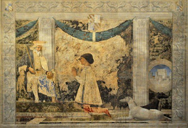 Sigismondo Malatesta voor St. Sigismondo, Tempio Malatestiano - Rimini