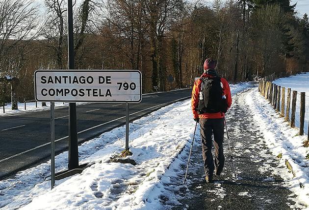 Remco Roovers op weg naar Santiago