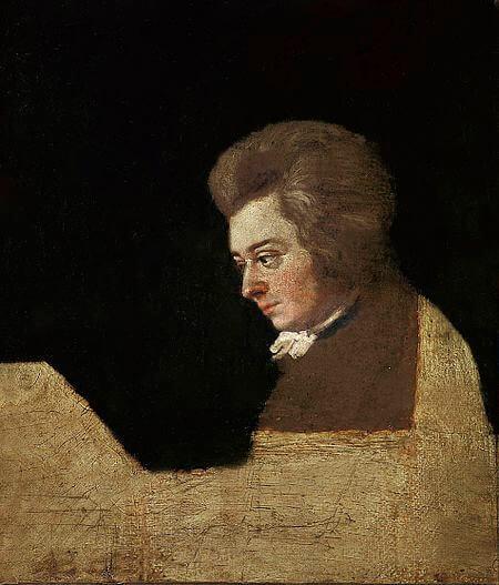 Mozart - onvoltooide vergroting (Joseph Lange)