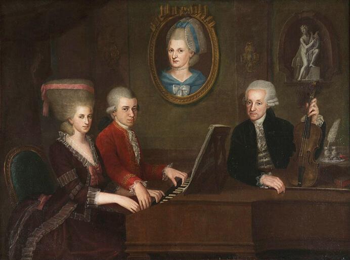 Familie Mozart, 1780-1781 (Johann Nepomuk della Croce)