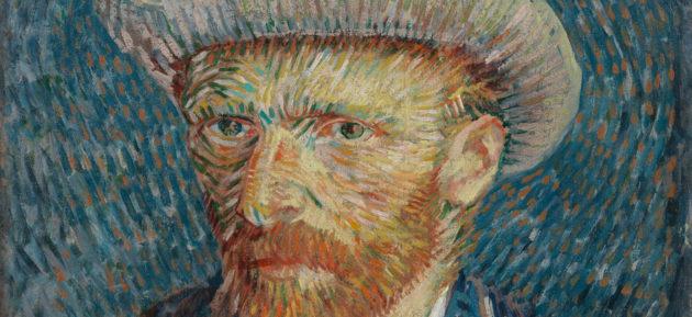Zelfportret, Van Gogh - detail