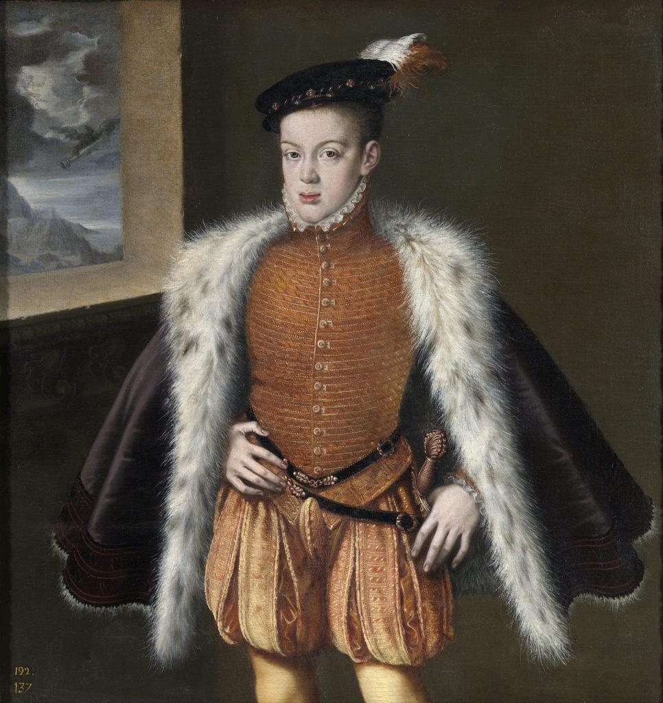 De historische Don Carlos, prins van Asturias (Alonso Sánchez Coello, 1555-1559)