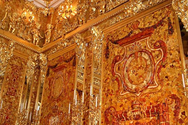 Barnsteenkamer in het Catharinapaleis, Sint-Petersburg
