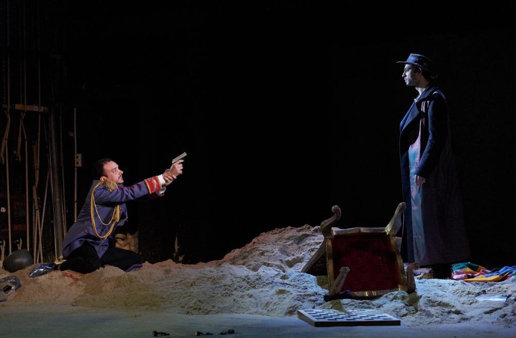 De Dood confronteert de Keizer (Foto: Herwig Prammer/Theater an der Wien)