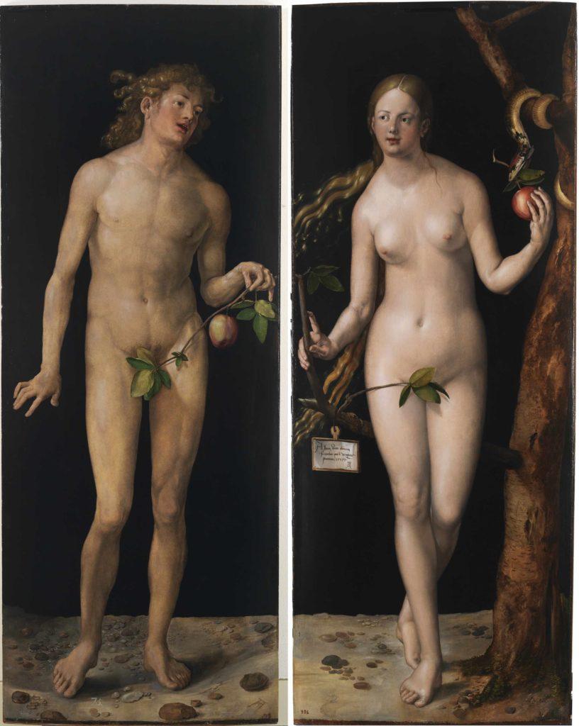 Adam en Eva (Albrecht Dürer, 1507. Foto: Museo del Prado)