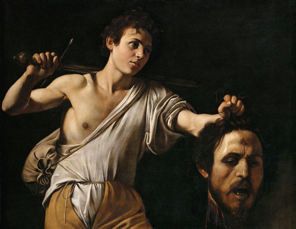 David met het hoofd van Goliath (Caravaggio, ca. 1607. Foto: Kunsthistorisches Museum Wien)