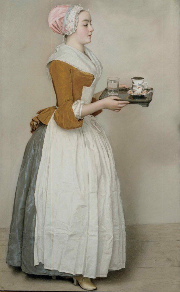 Het chocolademeisje (Jean-Étienne Liotard, ca. 1743-44. Foto: Gemäldegalerie Alte Meister)
