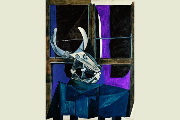 Nature morte au crâne de boeuf (Picasso, 1942)