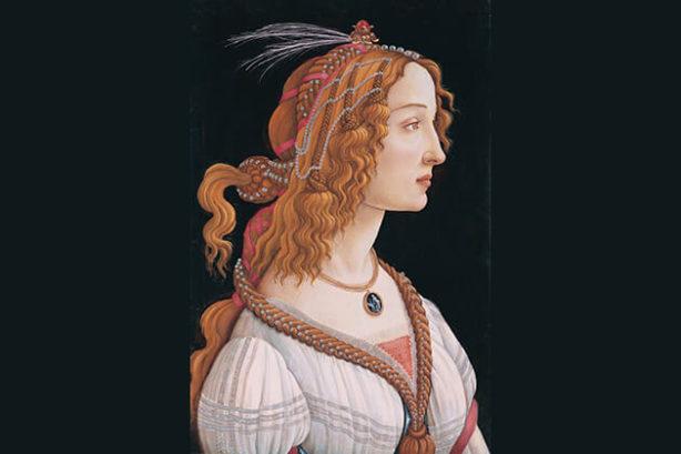 Portret van een jonge vrouw (Sandro Botticelli, in het Städel Museum)