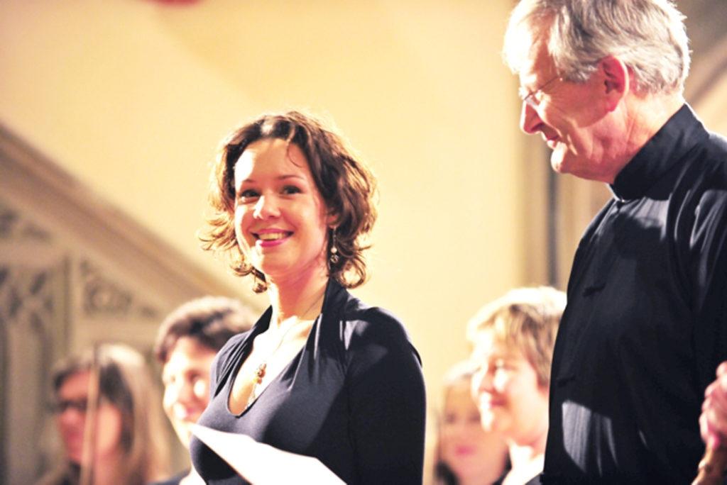 Lenneke Ruiten met dirigent John Eliot Gardiner