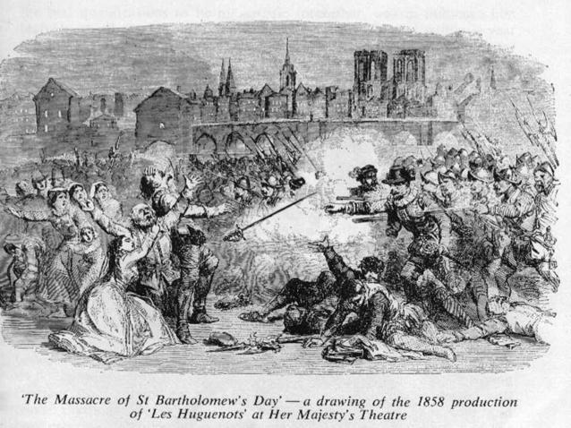 Raoul, Valentine en Marcel worden gedood tijdens de Bartholomeusnacht