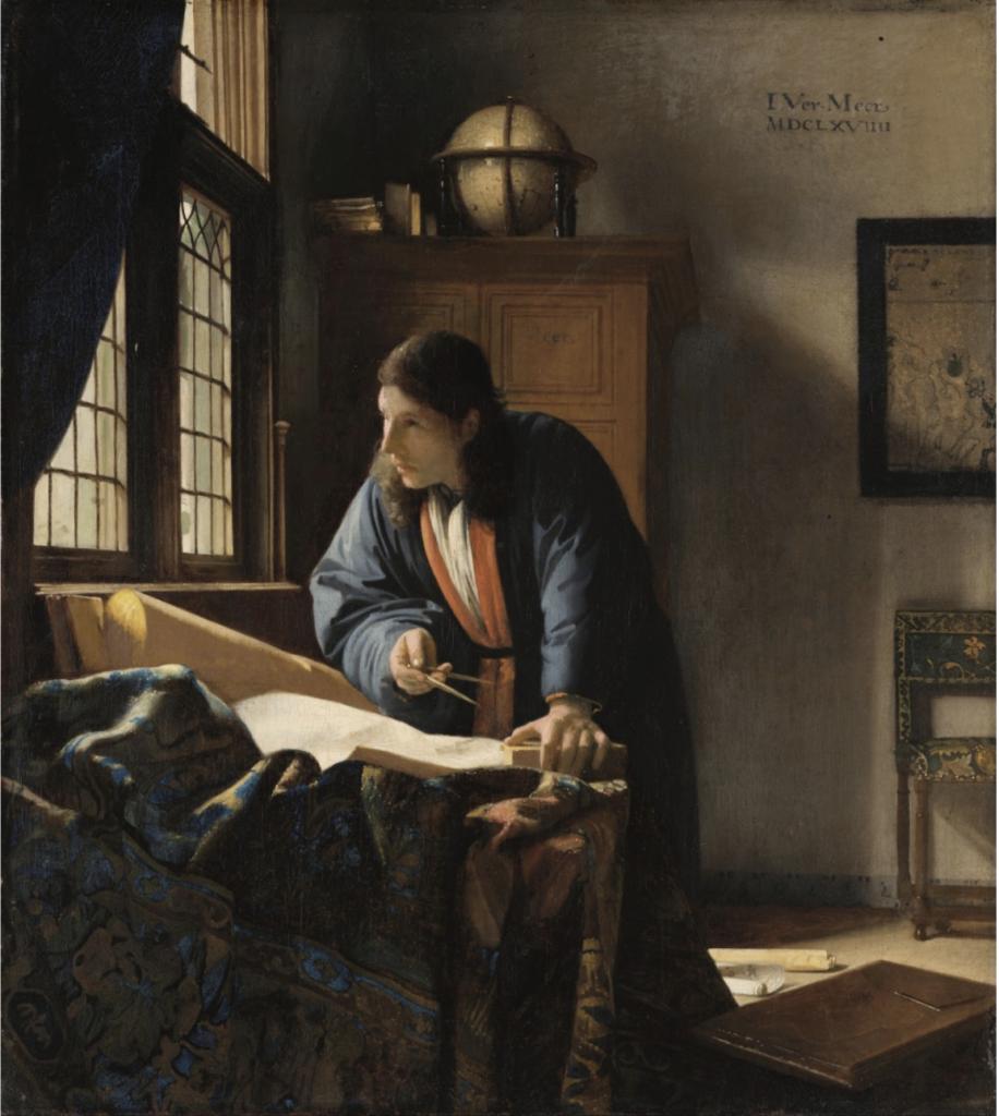 De Geograaf (Johannes Vermeer, 1668-1669), een van de topstukken van het Städel Museum