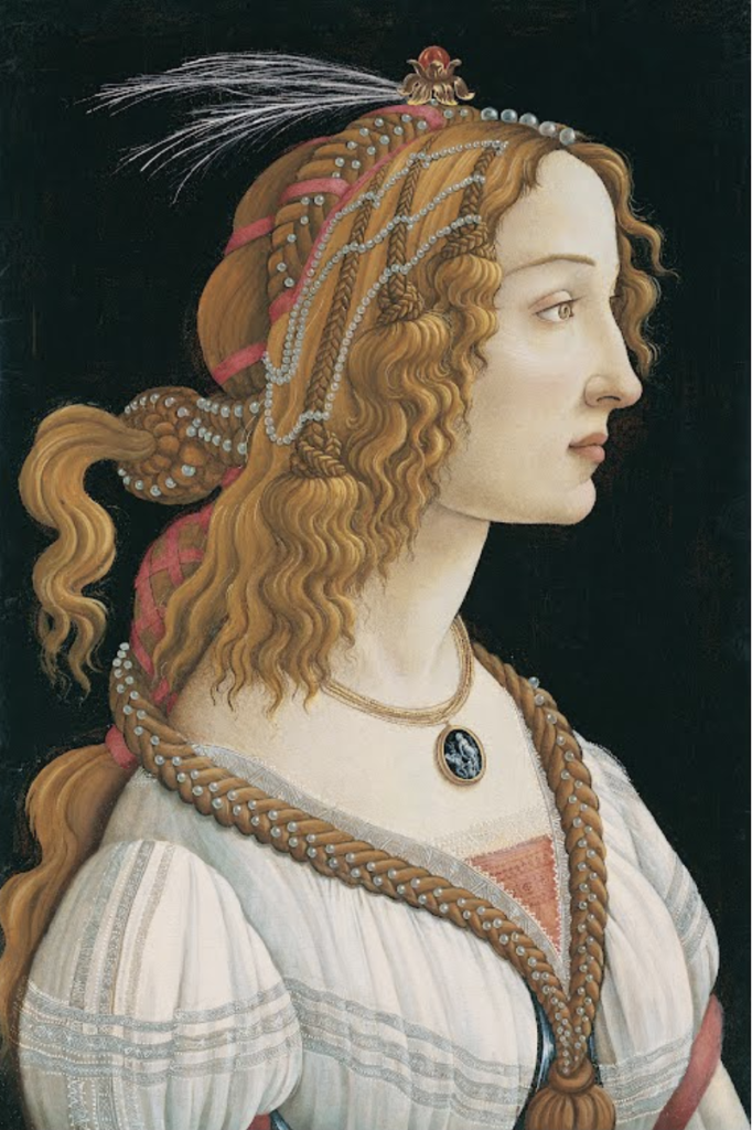 Portret van Simonetta Vespucci als Nymf (Sandro Botticelli, 1480)