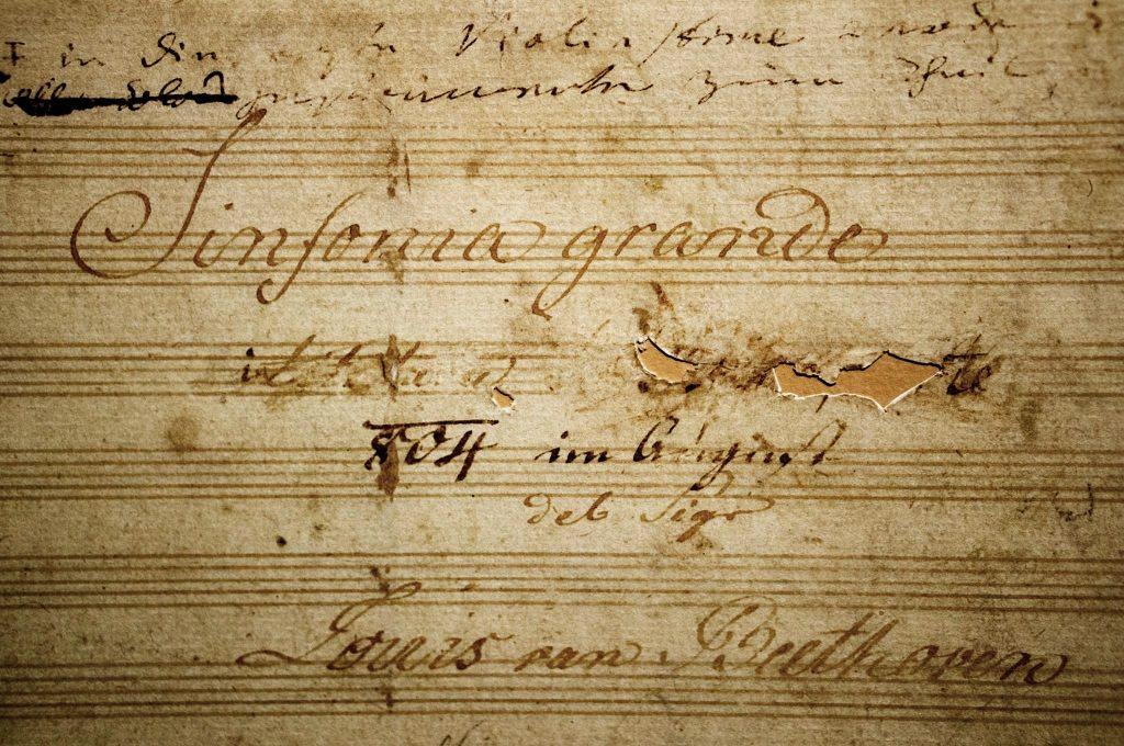 Titelblad van de Derde Symfonie, de 'Eroïca', van Beethoven