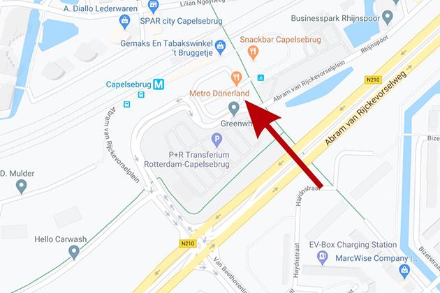 Opstapplaats Rotterdam: Capelse Brug