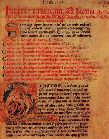 Liber Sancti Iacobi - eerste bladzijde