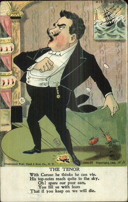 Ansichtkaart The tenor, 1905