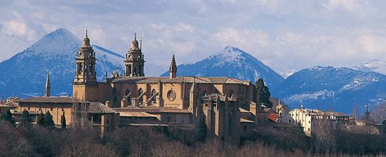 Zicht op Pamplona