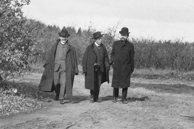 Willem Mengelberg, Gustav Mahler en Alphons Diepenbrock op de hei