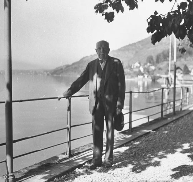 Richard Strauss aan het meer van Genève (foto David E. Scherman)