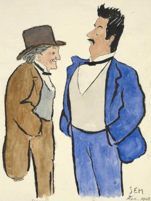 Victorien Sardou en Giacomo Puccini (Sem, 1903)