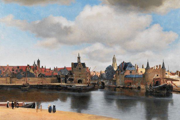 Gezicht op Delft, detail (Vermeer)