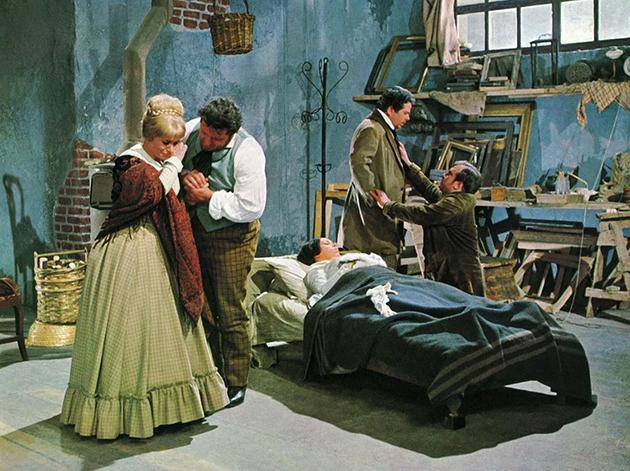 Laatste scène uit Zefferelli's verfilming van Puccini's La bohème