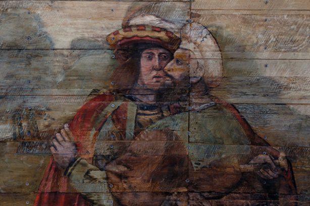 Tongewelf in de Grote Kerk van Naarden, detail