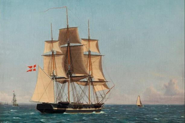 The Corvette Najaden under Sail (Christoffer Wilhelm Eckersberg, ca 1834)