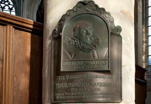 Gedenkteken Jan Pieterszoon Sweelinck in de Oude Kerk, Amsterdam