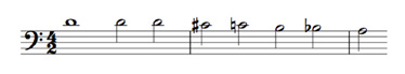 Thema Fantasia Chromatica van Sweelinck