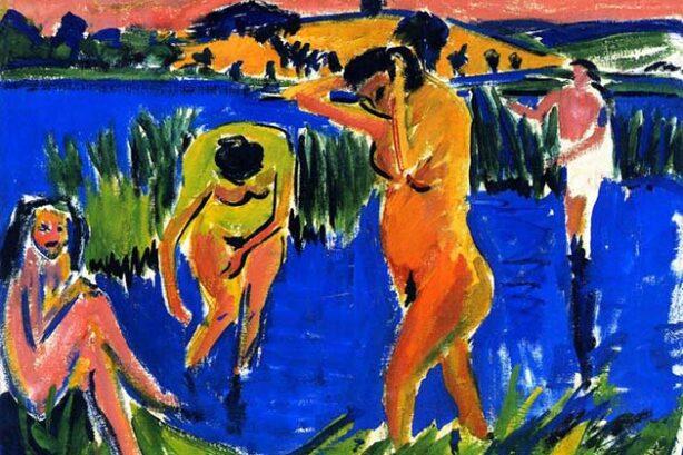 Vier Badende, detail (Ernst Ludwig Kirchner)