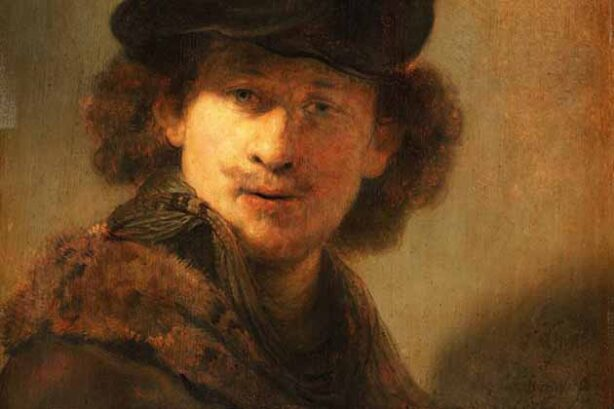 Zelfportret (Rembrandt, 1634 - detail)