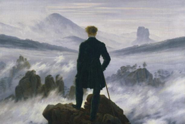 casper david friedrich - Der Wanderer über dem Nebelmeer (detail)